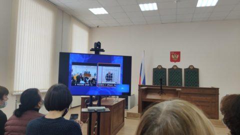 В зале, где проводилась трансляция